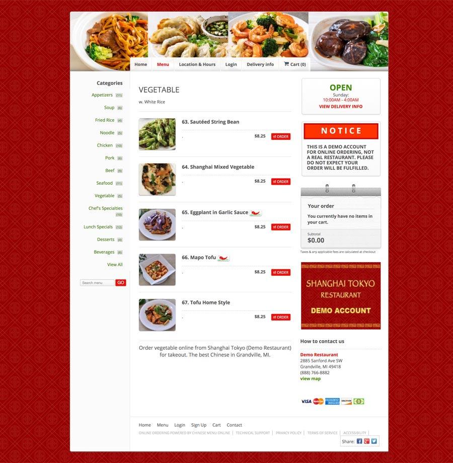 View Sample Restaurants